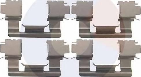 Carrab Brake Parts 2338 - Piederumu komplekts, Disku bremžu uzlikas autodraugiem.lv
