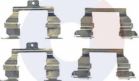 Carrab Brake Parts 2332 - Piederumu komplekts, Disku bremžu uzlikas autodraugiem.lv