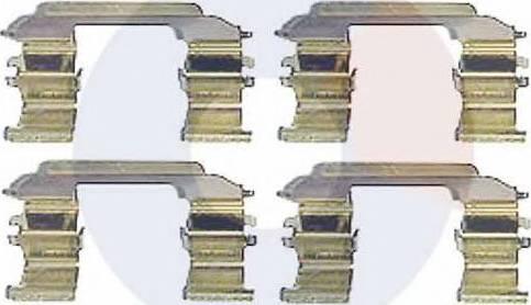 Carrab Brake Parts 2324 - Piederumu komplekts, Disku bremžu uzlikas autodraugiem.lv
