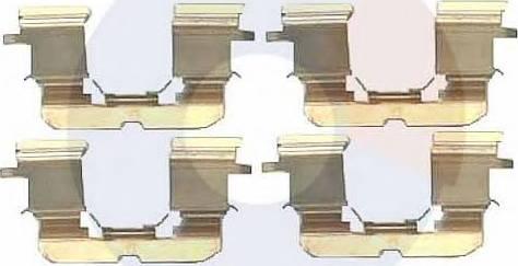 Carrab Brake Parts 2290 - Piederumu komplekts, Disku bremžu uzlikas autodraugiem.lv
