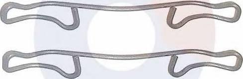 Carrab Brake Parts 2257 - Piederumu komplekts, Disku bremžu uzlikas autodraugiem.lv