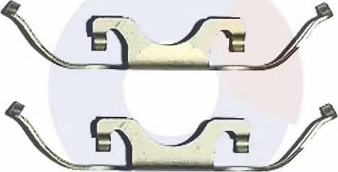 Carrab Brake Parts 2287 - Piederumu komplekts, Disku bremžu uzlikas autodraugiem.lv