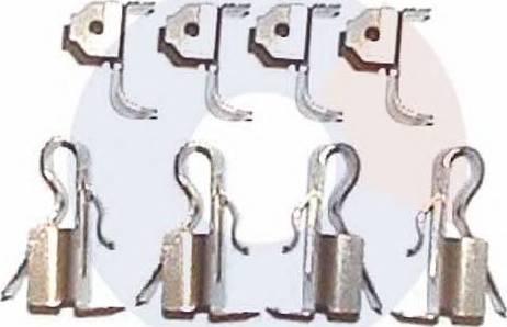 Carrab Brake Parts 2238 - Piederumu komplekts, Disku bremžu uzlikas autodraugiem.lv