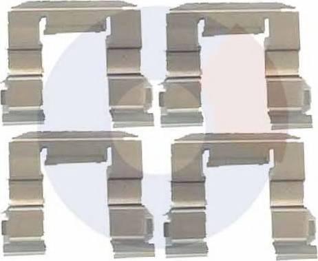 Carrab Brake Parts 2275 - Piederumu komplekts, Disku bremžu uzlikas autodraugiem.lv