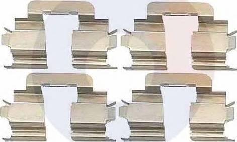 Carrab Brake Parts 2278 - Piederumu komplekts, Disku bremžu uzlikas autodraugiem.lv