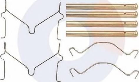 Carrab Brake Parts 2273 - Piederumu komplekts, Disku bremžu uzlikas autodraugiem.lv