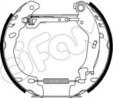 Cifam 151-446 - Bremžu komplekts, trumuļa bremzes autodraugiem.lv