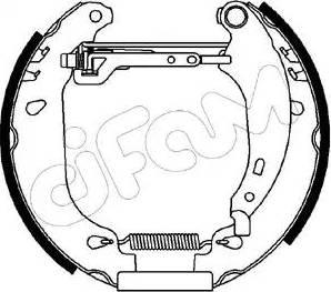 Cifam 151-092 - Bremžu komplekts, trumuļa bremzes autodraugiem.lv