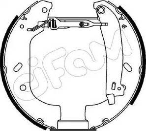 Cifam 151-066 - Bremžu komplekts, trumuļa bremzes autodraugiem.lv