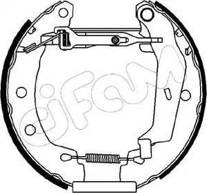 Cifam 151-061 - Bremžu komplekts, trumuļa bremzes autodraugiem.lv
