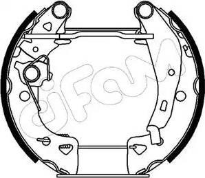 Cifam 151-002 - Bremžu komplekts, trumuļa bremzes autodraugiem.lv