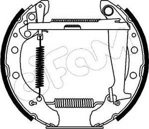 Cifam 151-084 - Bremžu komplekts, trumuļa bremzes autodraugiem.lv