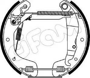 Cifam 151-081 - Bremžu komplekts, trumuļa bremzes autodraugiem.lv