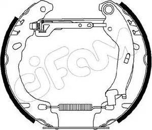 Cifam 151-194 - Bremžu komplekts, trumuļa bremzes autodraugiem.lv