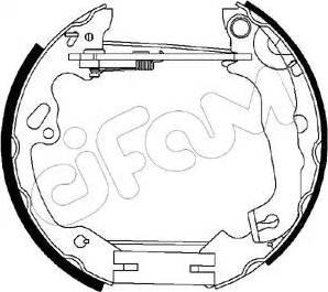 Cifam 151-197 - Bremžu komplekts, trumuļa bremzes autodraugiem.lv