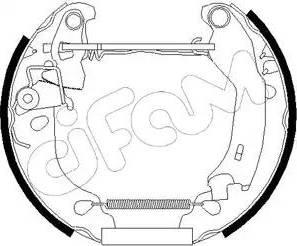 Cifam 151-181 - Bremžu komplekts, trumuļa bremzes autodraugiem.lv