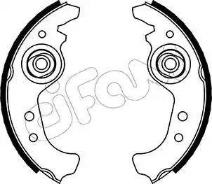 Cifam 153-063 - Bremžu komplekts, trumuļa bremzes autodraugiem.lv