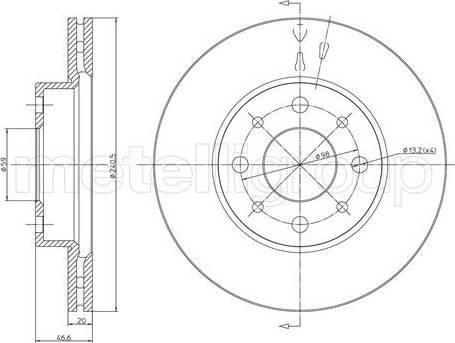 Cifam 800-496 - Bremžu diski autodraugiem.lv