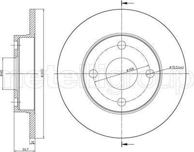 Cifam 800-658 - Bremžu diski autodraugiem.lv
