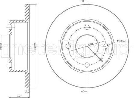 Cifam 800-098 - Bremžu diski autodraugiem.lv