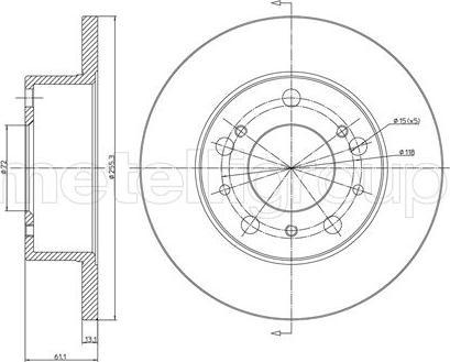 Cifam 800-093 - Bremžu diski autodraugiem.lv