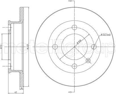 Cifam 800-041 - Bremžu diski autodraugiem.lv