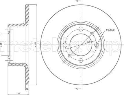 Cifam 800-043 - Bremžu diski autodraugiem.lv