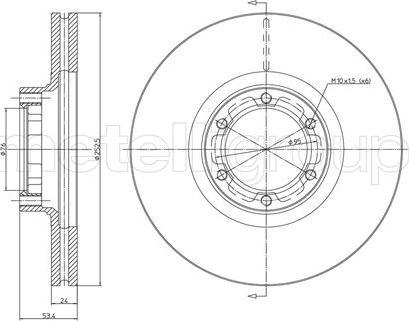Cifam 800-051 - Bremžu diski autodraugiem.lv