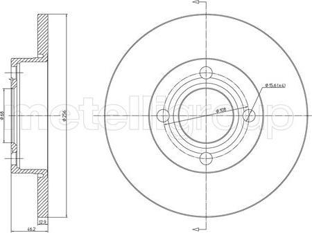 Cifam 800-062 - Bremžu diski autodraugiem.lv