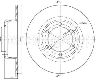 Cifam 800-016 - Bremžu diski autodraugiem.lv