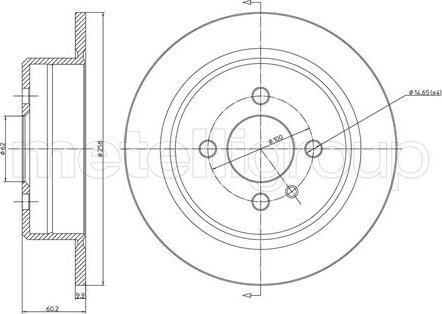 Cifam 800-084 - Bremžu diski autodraugiem.lv