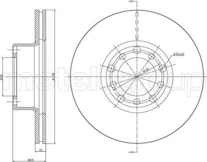 Cifam 800-086 - Bremžu diski autodraugiem.lv