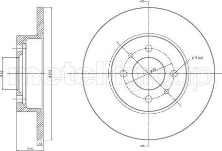 Cifam 800-083 - Bremžu diski autodraugiem.lv