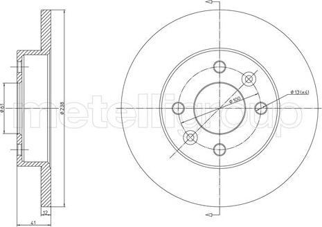 Cifam 800-082 - Bremžu diski autodraugiem.lv
