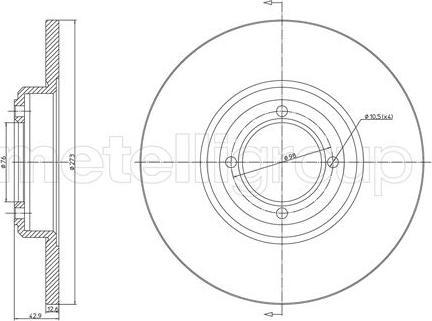 Cifam 800-025 - Bremžu diski autodraugiem.lv