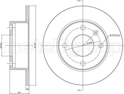 Cifam 800-072 - Bremžu diski autodraugiem.lv
