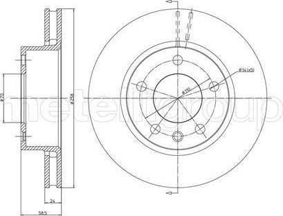 Cifam 800-194 - Bremžu diski autodraugiem.lv