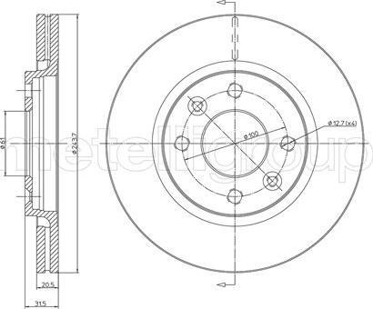 Cifam 800-151 - Bremžu diski autodraugiem.lv