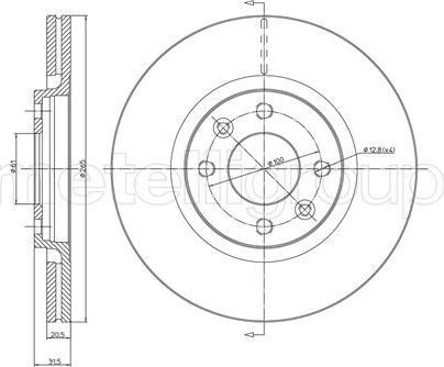 Cifam 800-152 - Bremžu diski autodraugiem.lv
