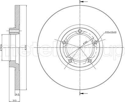 Cifam 800-163 - Bremžu diski autodraugiem.lv