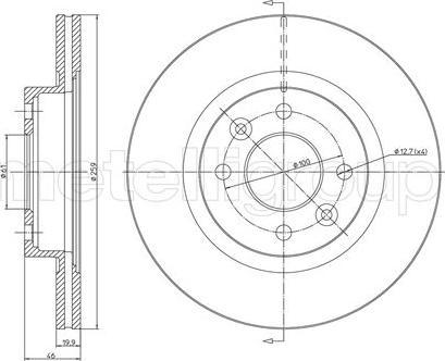 Cifam 800-108 - Bremžu diski autodraugiem.lv