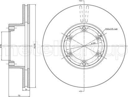Cifam 800-116 - Bremžu diski autodraugiem.lv