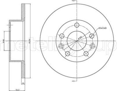 Cifam 800-112 - Bremžu diski autodraugiem.lv