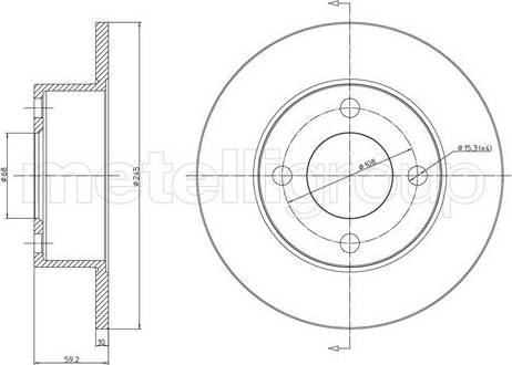 Cifam 800-185 - Bremžu diski autodraugiem.lv