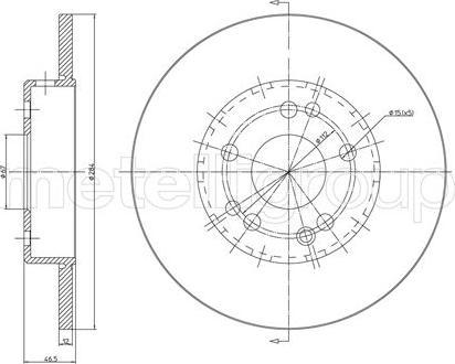 Cifam 800-124C - Bremžu diski autodraugiem.lv