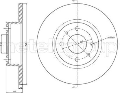 Cifam 800-128 - Bremžu diski autodraugiem.lv