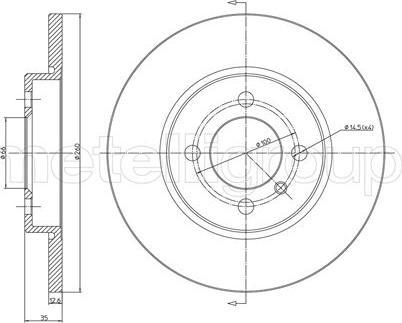 Cifam 800-122 - Bremžu diski autodraugiem.lv
