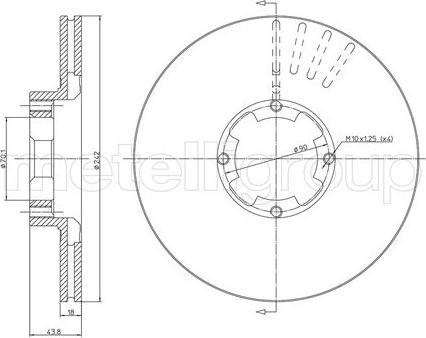 Cifam 800-173 - Bremžu diski autodraugiem.lv