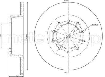 Cifam 800-359 - Bremžu diski autodraugiem.lv