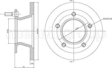 Cifam 800-308 - Bremžu diski autodraugiem.lv